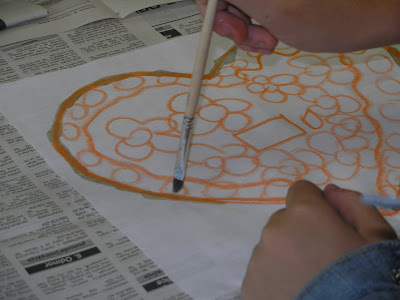 zorica, đuranić, batik, canvas, tutorial, how to, children, beginners, wax