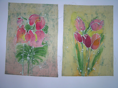 zorica, duranic, đuranić, batik, canvas, paintings, art, artistic, colorful, floral, tulips, flowers