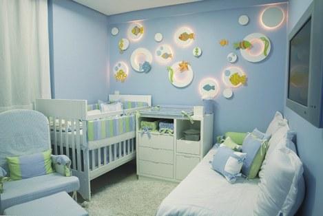 Relufu quartos de beb for Cuartos decorados azul