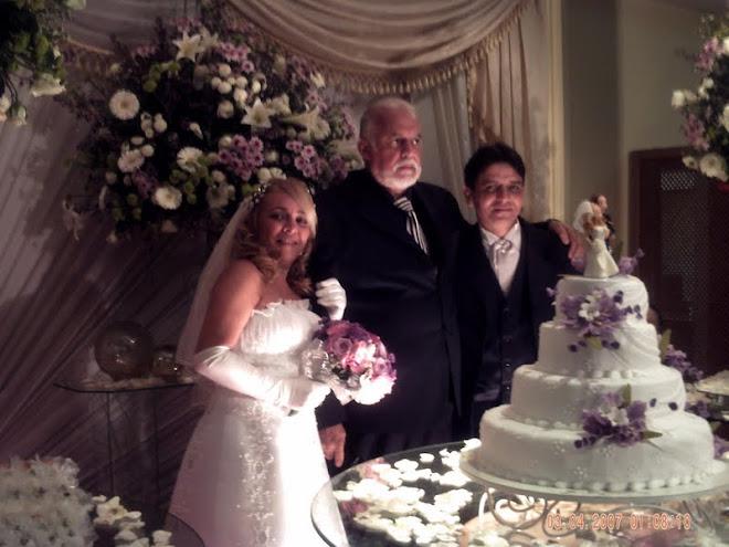 Priscila,Gilberto Braga e Edy...Um lindo casamento..