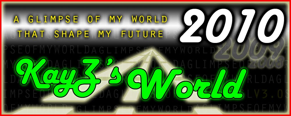 KayZ's World : A glimpse of my world that shape my future
