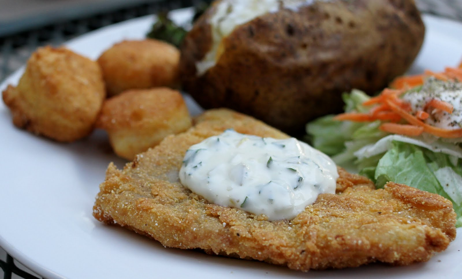 Fried Catfish with Hush Puppies & Tartar Sauce