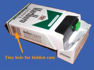 Wireless Color Camera hidden in Cigarette Pack