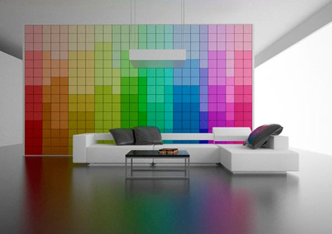 Creative living room interior