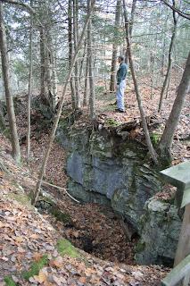 Down cut from stream at Fiborn