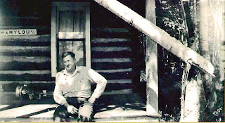 Herbert Ford on the porch of Mary Lou 1957
