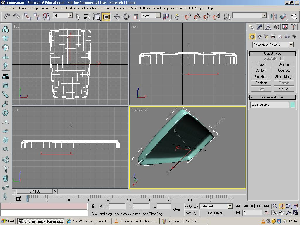 Des124 more of 3d max tutorial of phone for 3d max tutorial
