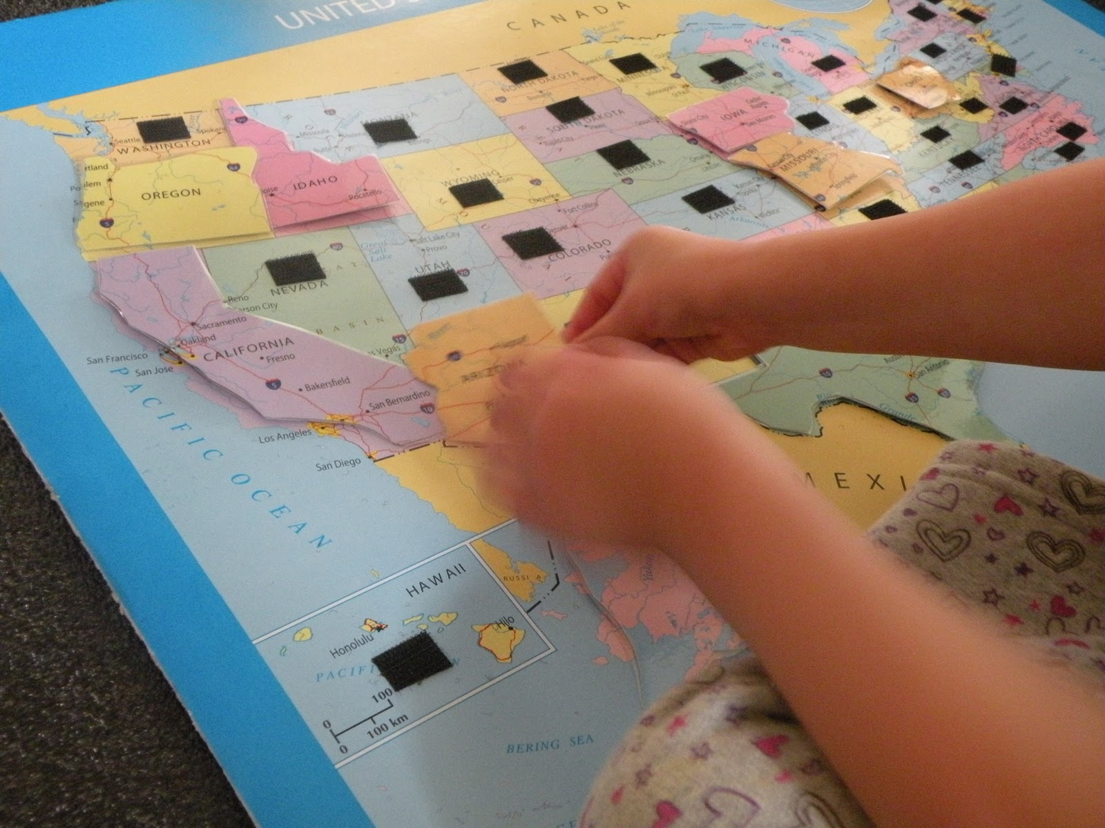 Toddler Approved Nifty United Sates Map Puzzle - Us map puzzle for toddlers