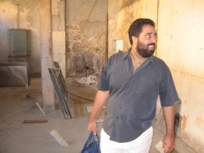 Fernando Szegeri nas obras do Sabiá, São Paulo, em 23 de junho de 2007