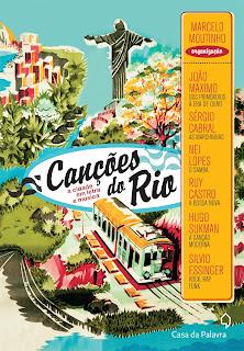 convite para o lançamento do livro CANÇÕES DO RIO