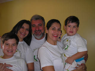 Alfredo Costa Lima e família
