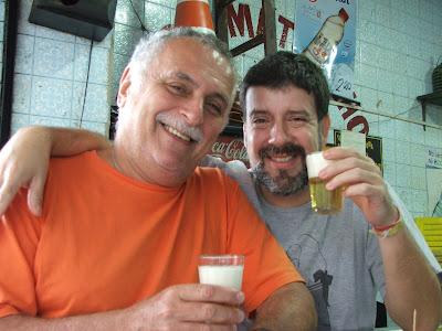 Isaac Goldenberg e Eduardo Goldenberg, Bar do Matosinho, rua do Matoso, Tijuca, Rio de Janeiro, RJ, 30 de agosto de 2008