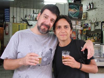 Eduardo Goldenberg e Felipe Quintans, Lanchonete Rex, rua do Matoso, Tijuca, Rio de Janeiro, RJ, 30 de agosto de 2008