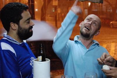 Fernando Szegeri e Luiz Antonio Simas, BAR DO CHICO, na Tijuca, 27 de setembro de 2008, 20h36min
