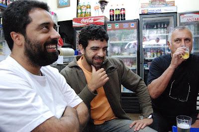 Fernando Szegeri, Fernando Goldenberg e Isaac Goldenberg, QUITANDA ABRONHENSE, na Tijuca, 27 de setembro de 2008, 15h43min
