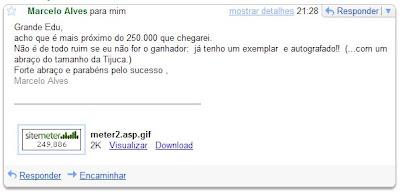 email do leitor Marcelo Alves recebido em 17 de outubro de 2008