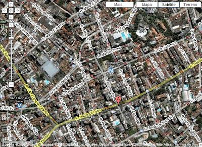 mapa da Tijuca mostrando o CANTINHO DO CÉU