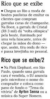 notas publicadas na coluna GENTE BOA do jornal O GLOBO de 21 de agosto de 2009