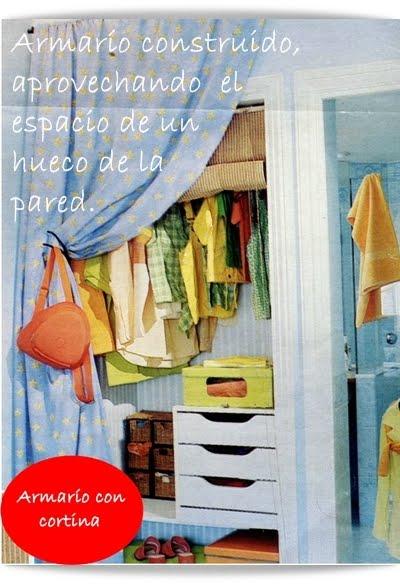 El minihogar - Cortinas para armarios sin puertas ...