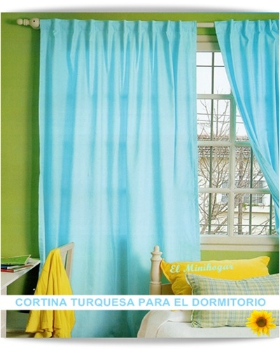 El minihogar como hacer una cortina turquesa para el - Como hacer color turquesa ...