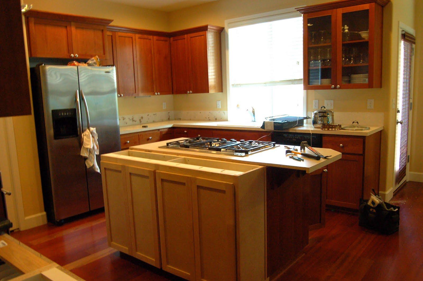 redwood cabinets kitchen