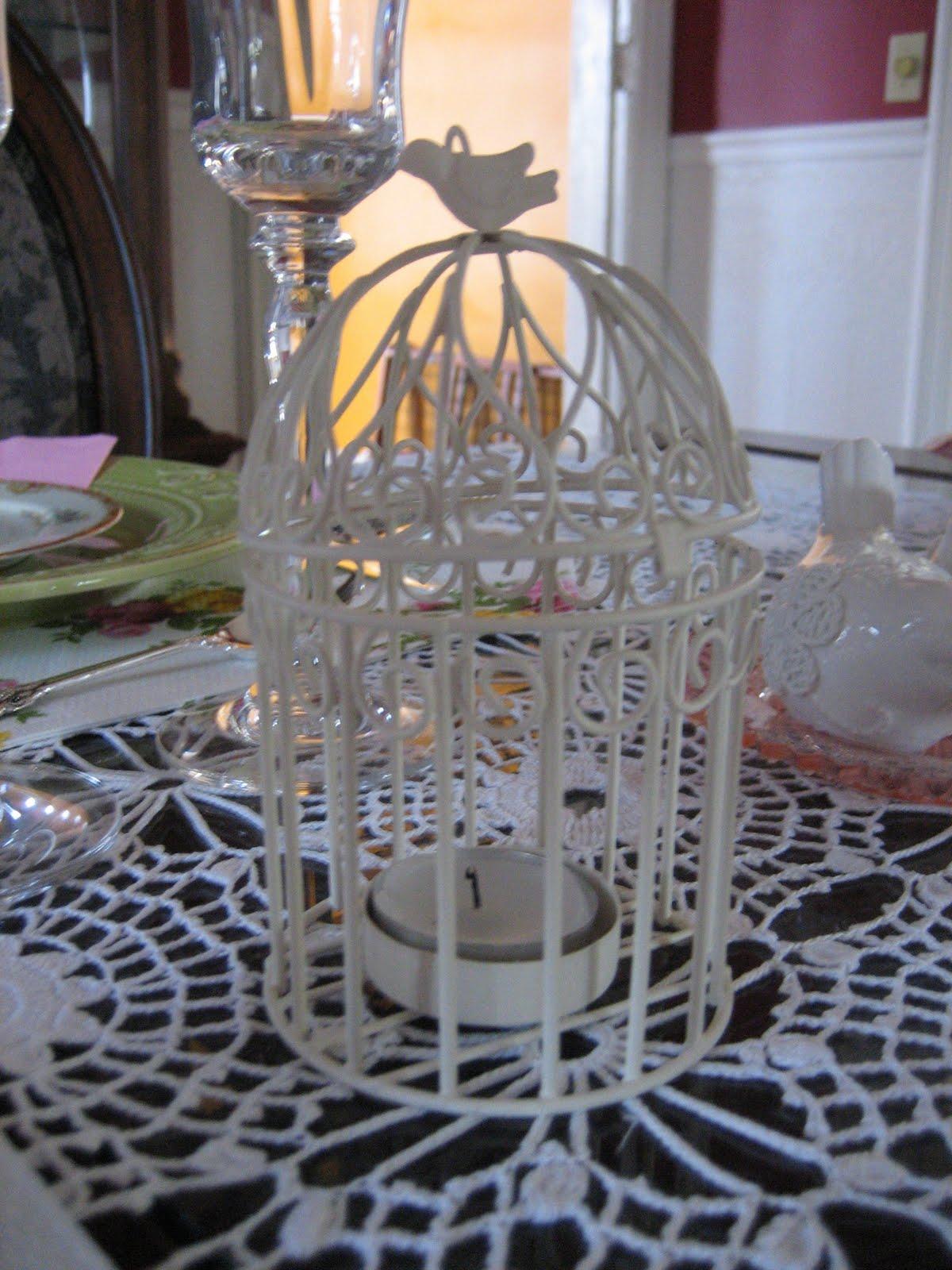 Mini birdcage centerpieces - photo#20