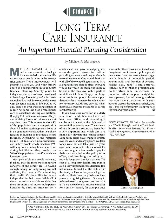 an understanding of ltci financing The federal long term care insurance program (fltcip) provides long term care insurance for its enrollees, who are federal and us postal service employees and.