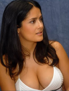 Salma Hayek without upskirt, without nipple slip, or without see through