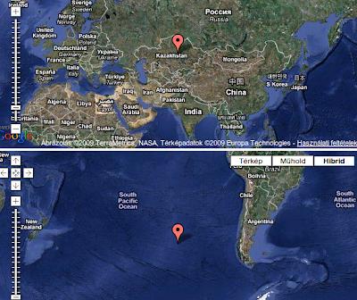antipodes map, island