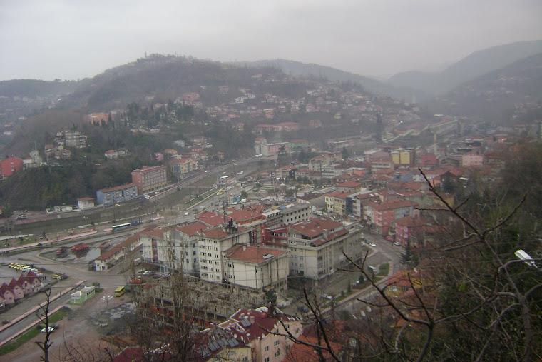 KOzlu Kent Merkezine Tepeden Bakış