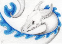 Wave Dragon Coloured pencil Copyright Jennifer Rose Phillip