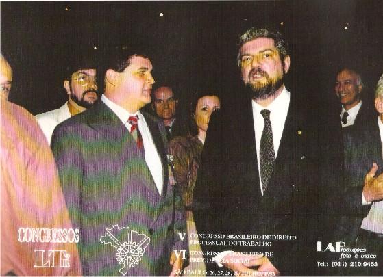 Flávio Madeira com o Ministro da Previdência Antônio Brito