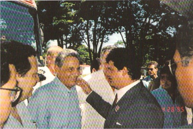 O Presidente Fernando Henrique com o Superintendente do IPREMA Dr. Flávio Madeira