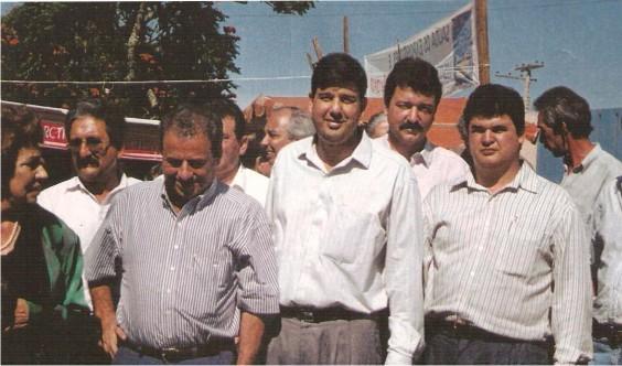 Alisson Paulinelli,  Dr. Jeová Prefeito de Araxá e  Dr. Flávio Madeira Superintendente