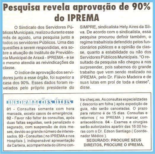 Flávio Madeira Documento 90% de Aprovação frente ao IPREMA