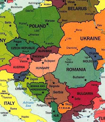 The map in my head of Eastern Europe is vague.