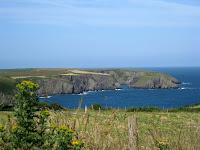Welsh coastline in Pembrokeshire