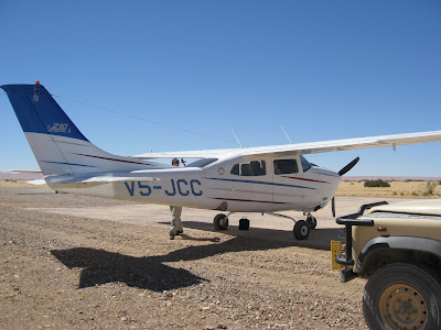 Bush plane in Namibia