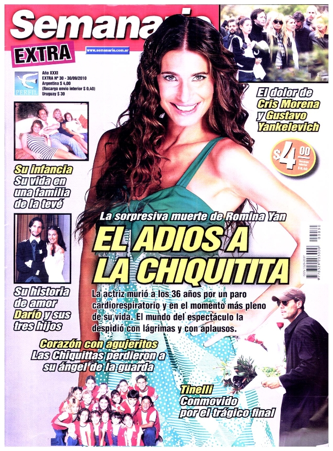 Las revistas siguen recordando a romina yan el for Revistas del espectaculo