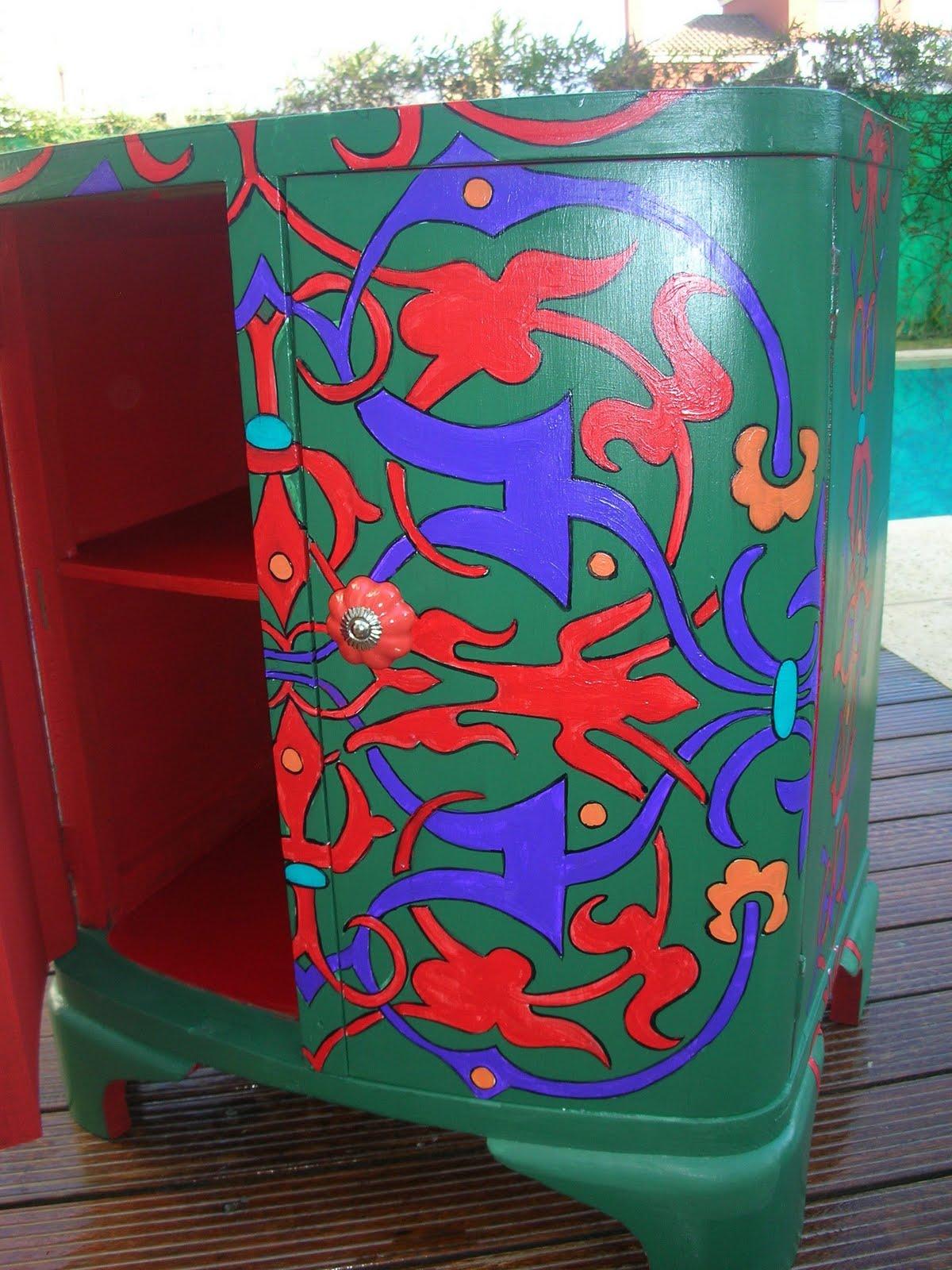 Vintouch muebles reciclados pintados a mano mueble - Reformar muebles viejos ...