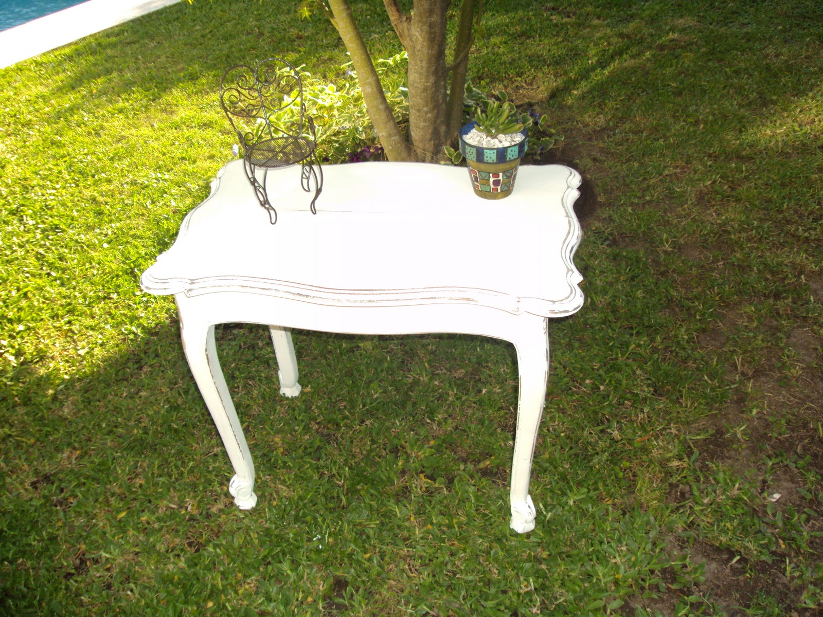 Vintouch muebles reciclados pintados a mano mesa - Mueble provenzal frances ...