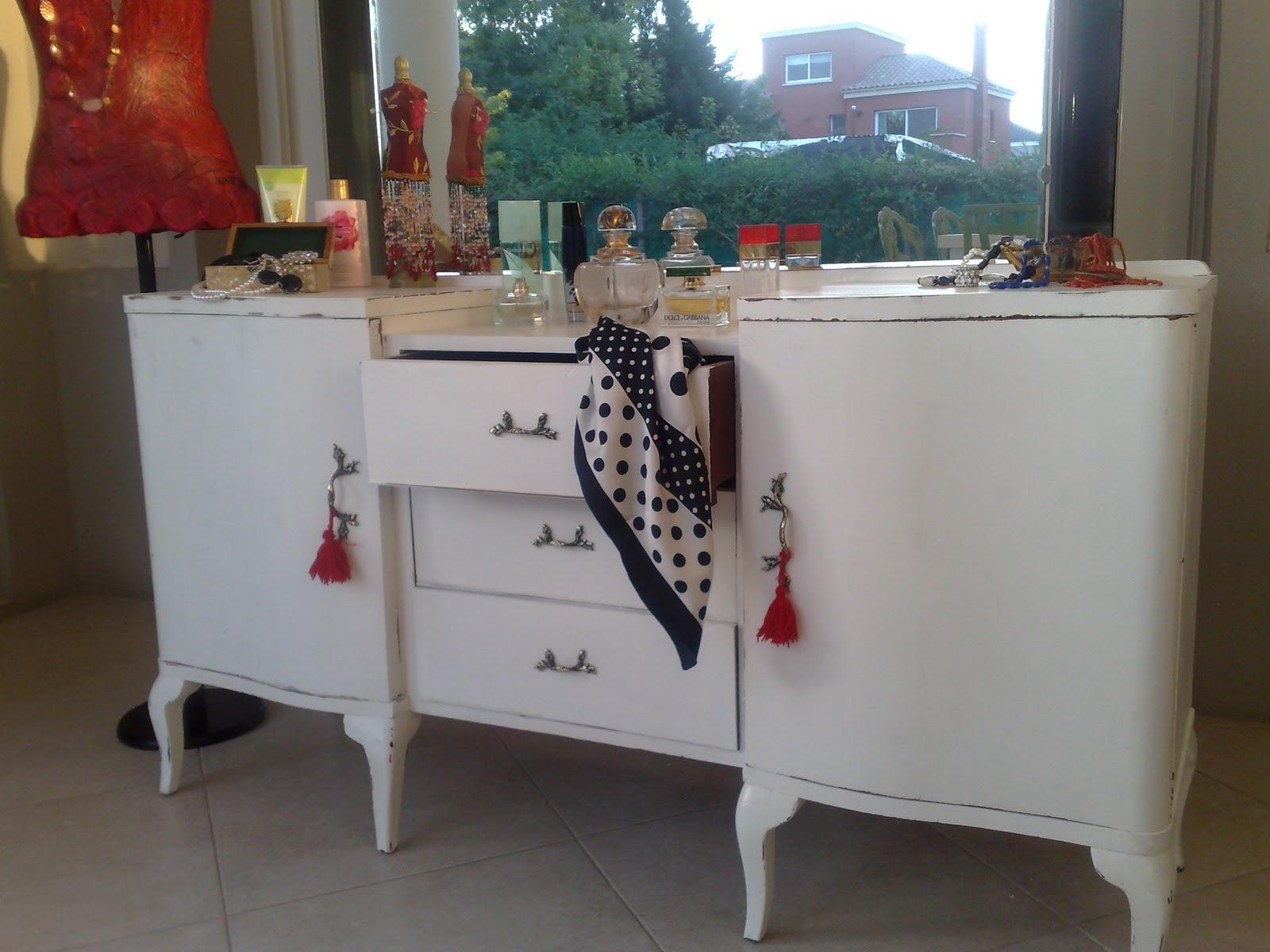 Muebles algarrobo pintados blanco 20170724194302 - Armarios pintados a mano ...