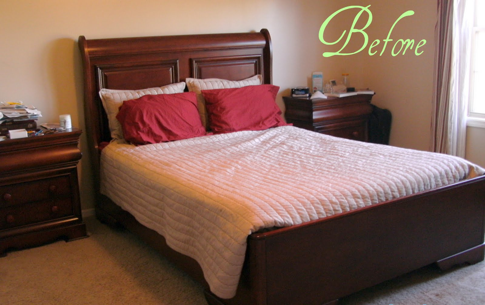 Details on the goodwill makeover for Bedroom makeover