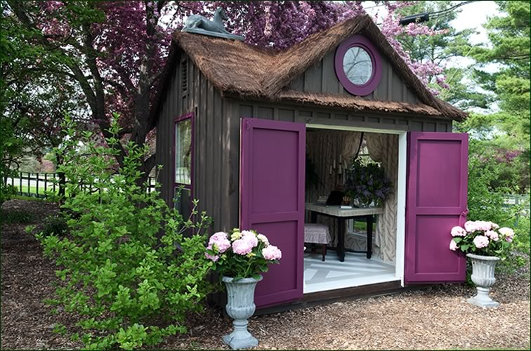 Blue Artichoke Interiors Decorated Garden Sheds Magical Outdoor