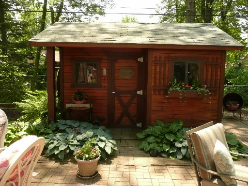 Rustic Backyard Sheds :  Artichoke Interiors Decorated Garden Sheds Magical Outdoor Spaces