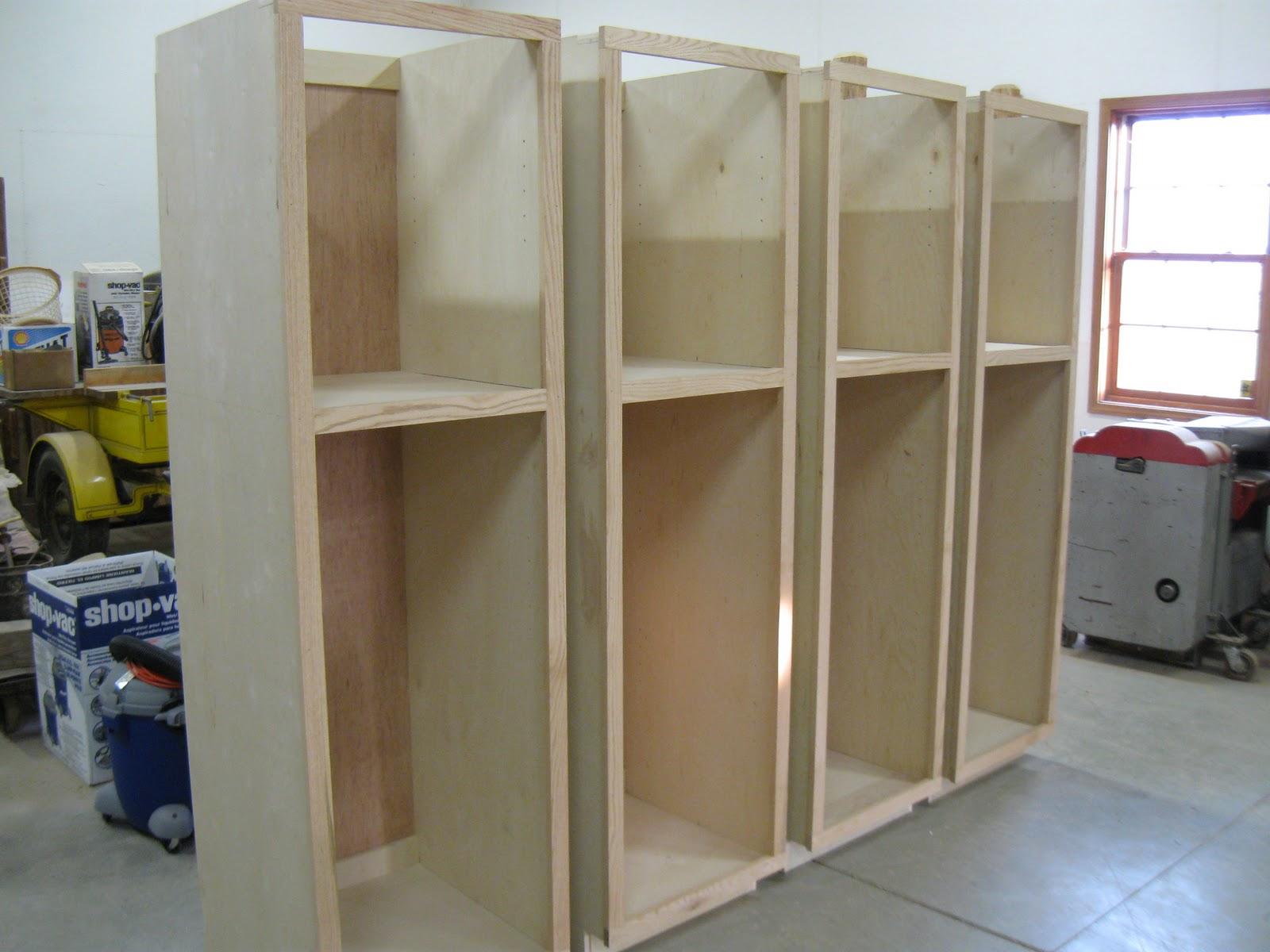 Eisenmann family woodworking - Simple garage storage cabinets in cool structured design ...