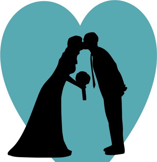 radmegan: in words and pictures: Making Your Own Wedding Silhouette