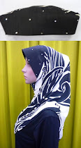 Tudung Lycra Corak Diamond