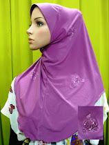 Tudung Flower Plain Exclusive (L size)