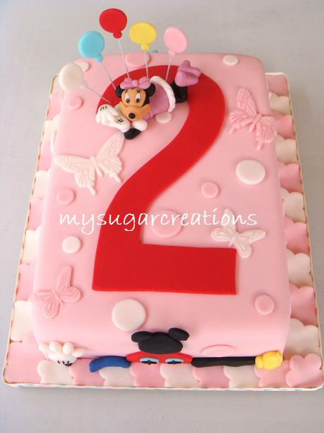 minnie mouse cupcakes. Minnie Mouse Birthday Cake